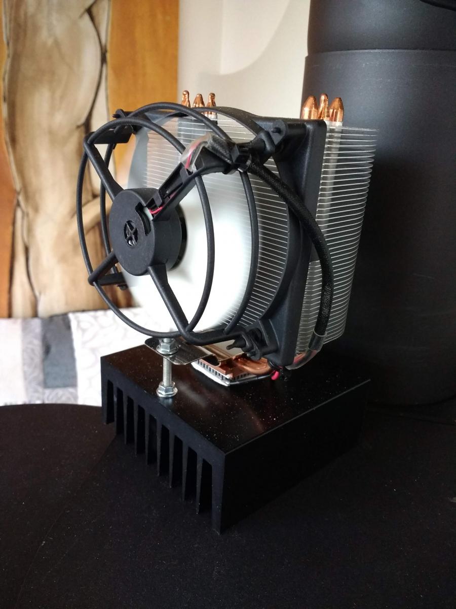 Ein wärmebetriebener Warmluftumwälzer