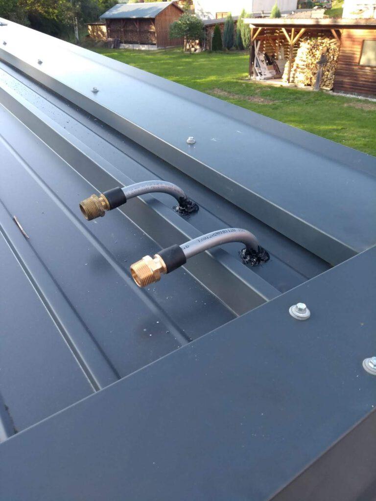 Anschlüsse auf dem Dach